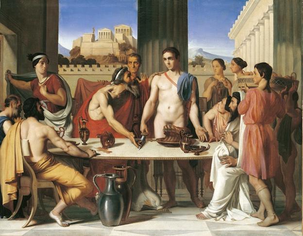 Hippolyte Flandrin, Thésée reconnu par son père, 1832, huile sur toile Paris, Beaux-Arts de Paris Photo © Beaux-Arts de Paris, Dist. RMNGrand Palais / image Beaux-Arts de Paris