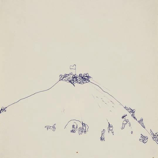 Philippe Favier, Hamburger Hill, 1980, stylo-bille sur papier © François Caterin © Adagp, Paris, 2020