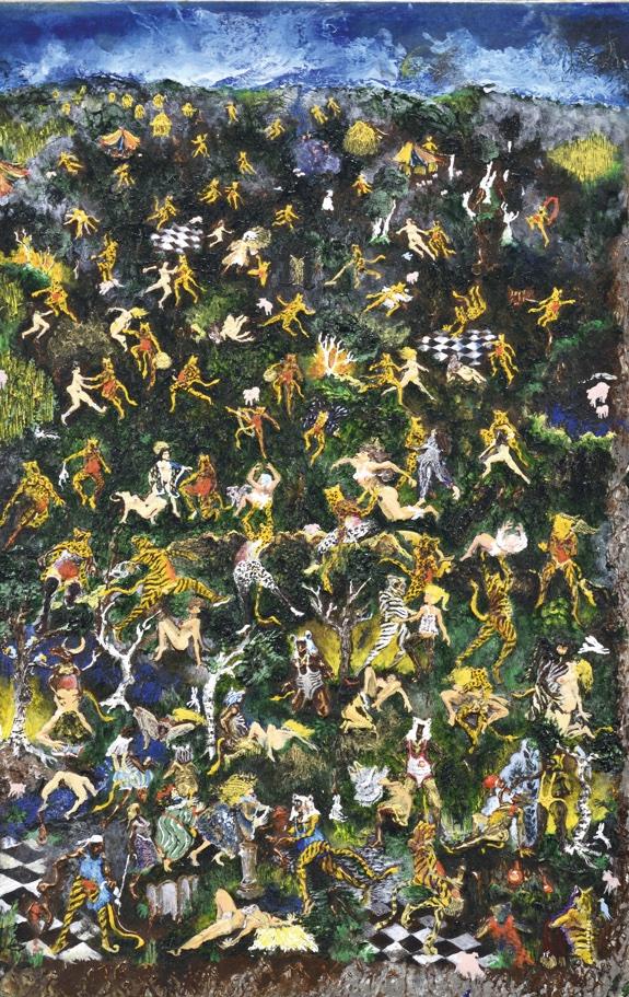 Philippe Favier, Les Signorelliennes, 1983-1984, acrylique sur carton plume © François Caterin © Adagp, Paris, 2020