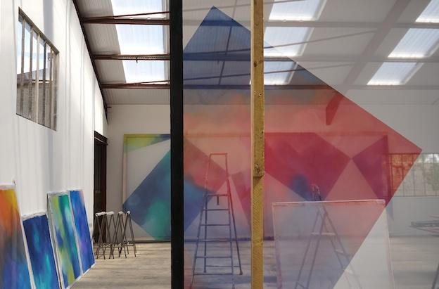 Atelier de l'artiste, Marsannay-la-Côte, avril 2021. Photo : © Cécile Bart