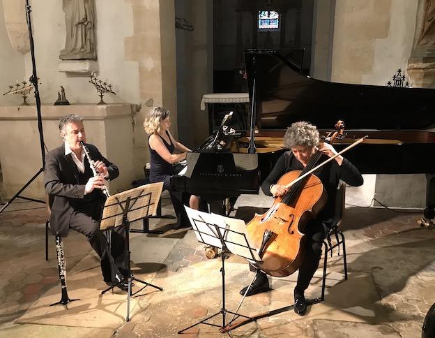 Elena Rozanova, piano, Patrick Messina, clarinette,Hélène Dautry, violoncelle © DR