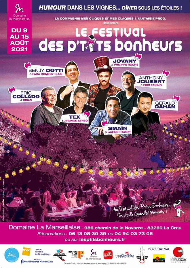 La Crau (83), Festival «Les P'tits Bonheurs» du 9 au 15 août 2021
