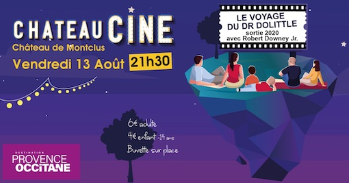 Château Ciné à Montclus (30) le vendredi 13 août 2021