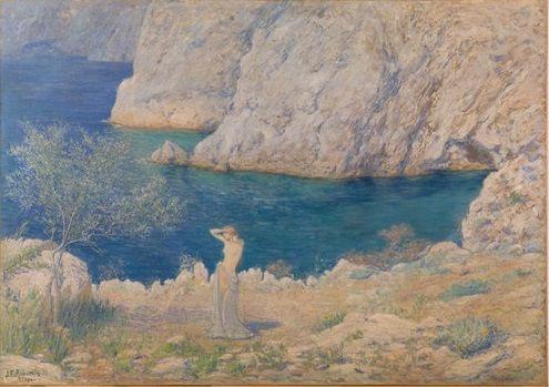 Jean-Francis Auburtin. Le Matin (Calanque de Porquerolles), 1894 Huile sur toile, 113 x 162 cm