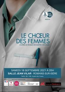 Romans, salle Jean Vilar : « Le chœur des femmes », le 18/9/21 à 20h
