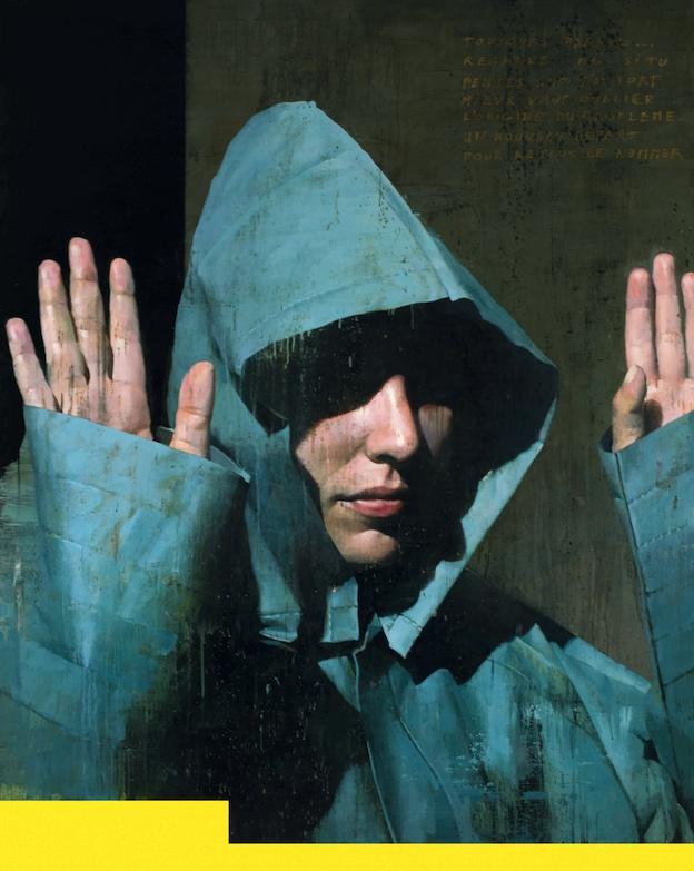 François Bard, Haut les mains - Oil on canvas- Huile sur toile - 161 x 130 cm - 63.5 x 51 in
