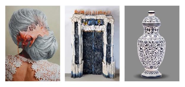 """Lyon, Fondation Bullukian : exposition """"Par-delà le vernis"""", Natacha Lesueur, Bachelot & Caron, Céramiques de Gumri"""