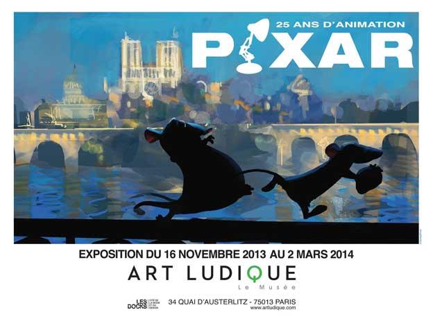 """Exposition """"Pixar, 25 ans d'animation"""", Art ludique - Le Musée, Paris, du 16 novembre 2013 au 2 mars 2014"""