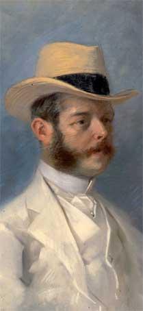 Jules Chéret, Portrait du Baron Vitta,1908, pastel © Ville de Nice, photo Muriel Anssens. Collection musée des Beaux-arts, Nice.