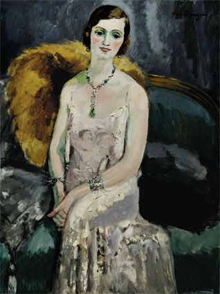 Kees Van Dongen (1877 - 1968) Femme aux bijoux, 1929, huile sur toile, 130,5 x 97,5 cm © ADAGP, 2013
