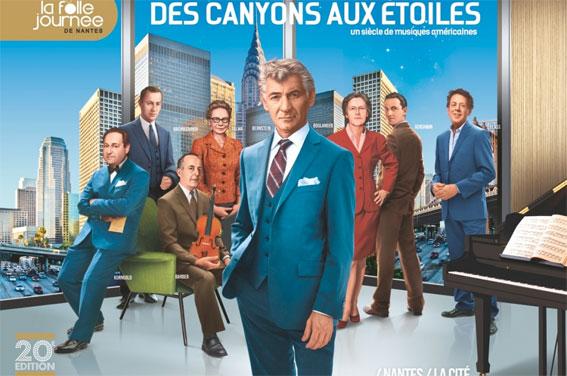 """La Folle Journée 2014 : """"Des canyons aux étoiles"""". 20e édition. Région Pays de la Loire, du 24 au 26 janvier 2014. Nantes, du 29 janvier au 2 février 2014"""