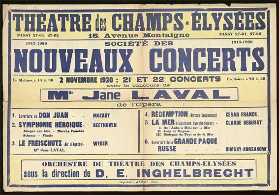 100 ans d'archives du Théâtre des Champs-Elysées sont en ligne avec un nouveau portail numérique développé par Jouve