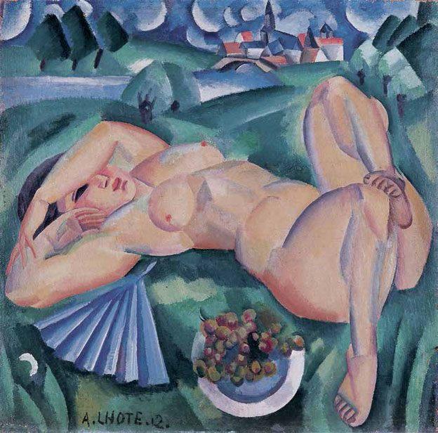André Lhote (Bordeaux, 1885 - Paris, 1962) Bacchante. Huile sur toile 1912