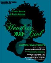 Hendrix-XVIIe-Ciel, avec l'Ensemble Boréades,Théâtre des Marronniers, Lyon, du 9 au 27 janvier 2014