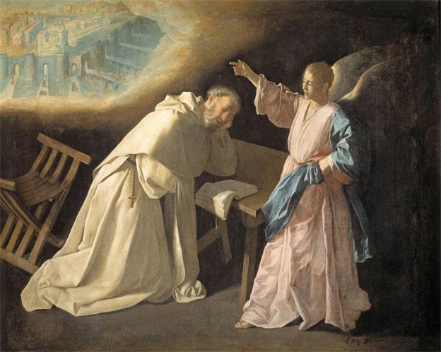 Francisco de Zurbarán Saint Peter Nolasco's Vision of the Heavenly Jezuralem 1629 Oil on canvas, 179 x 223 cm Inv. P1236 Madrid, Museo Nacional del Prado