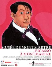 Picasso à Montmartre, exposition au Musée de Montmartre du 28 mars au 31 août 2014