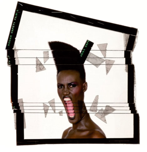 Slave to the rythm, ekta découpé, New York, 1986 © Jean-Paul Goude