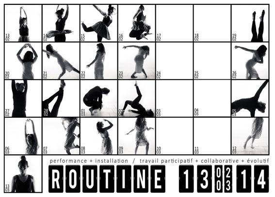 Routine, Galerie Sans Titre n°42, Lyon, du 13 février au 13 mars 2014