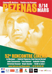 52e rencontre cinéma de Pézenas du 8 au 14 mars au cinéma Le Molière et au Théâtre de Pézenas