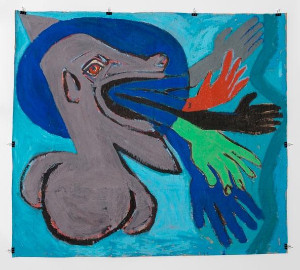 Ryszard Grzyb untitled, 1986 distemper on paper 172 x 195 cm Présenté par l'espace Piktogram de Varsovie