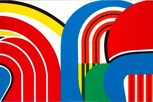 Jean Dewasne, La Longue Marche, 1969, 14 sérigraphies sur papier, extrait, Edition Galerie Lahumière Dépôt de l'Etat, service des musées de France, donation Jean Dewasne, Musée départemental Matisse, Le Cateau-Cambrésis, © ADAGP, Paris 2014, Photo Philip Bernard