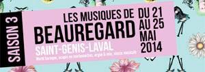 « Les musiques de Beauregard » du 21 au 25 mai 2014, Parc de Beauregard à St-Genis-Laval (69)