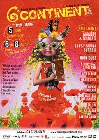 Festival 6e Continent à Lyon du 5 au 8 juin 2014