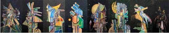 « Totems et Tabous », peintures d'Etienne Blanc, La Menuiserie, Lyon, du 15 juin au 15 juillet 2014
