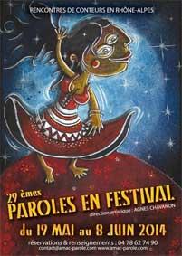 29e édition de Paroles en Festival du 18 mai au 8 juin 2014 en Rhône-Alpes