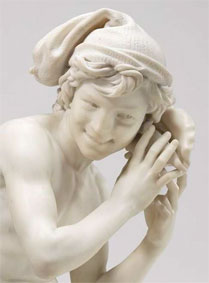 Jean-Baptiste Carpeaux (1827-1875). Pêcheur à la coquille (détail), 1861-1862. Courtesy of the National Gallery of Art, Washington