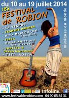 18e Festival de Musiques du Monde de Robion, Théâtre de Verdure de Robion (83), du 10 au 17 juillet 2014