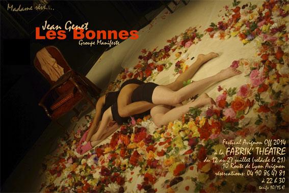 Les Bonnes  de Jean Genet par  Le Groupe Manifeste, à la Fabrik'Théâtre, du 12 au 27 juillet 2014, Avignon Off