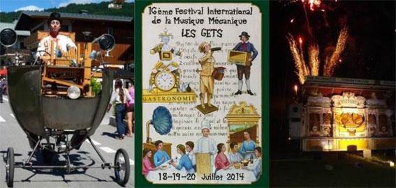 Le 16e Festival International de la Musique Mécanique des Gets met la gastronomie à l'honneur du 18 au 20 juillet 2014