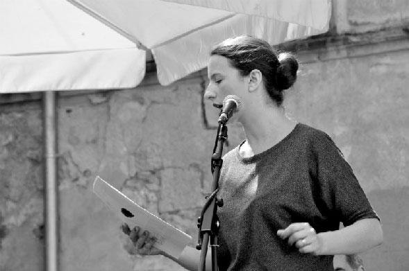 Samantha Barendson, poète italienne invitée du festival © Margaux Meurisse