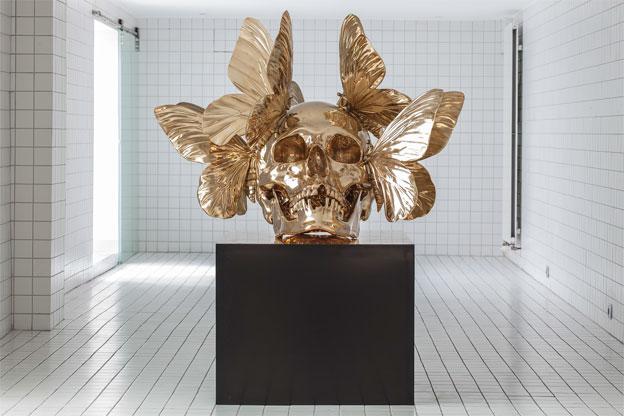 « Vanité polie », bronze, H 160 cm