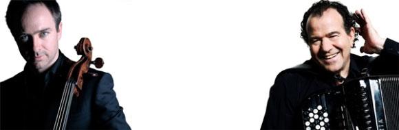 Richard Galliano et Henri Demarquette créent Contrastes, au Théâtre du Châtelet avec l'Orchestre Royal de Chambre de Wallonie dirigé par Frank Braley le 15 décembre 2014