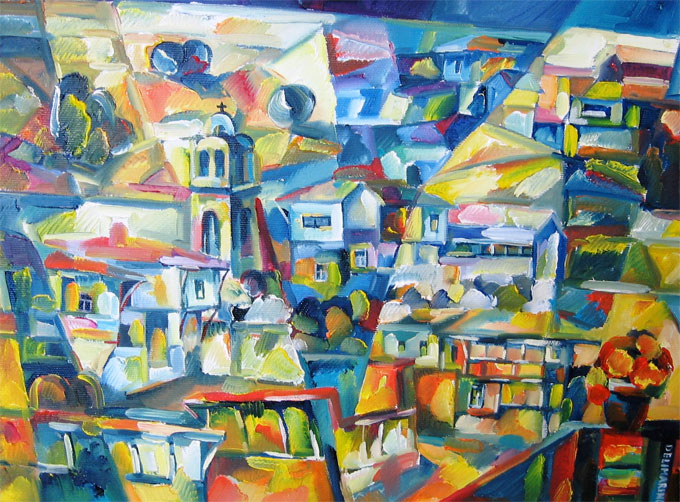 Край манастирът, 30/40см - Le pont du monastère présenté au Salon des Indépendants