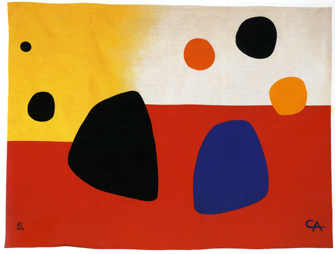 Alexandre CALDER, Composition, 1968 Tapisserie, Manufacture des Gobelins, haute lisse Laine, 2,97 m x 4 m Collection Mobilier National © DR © ADAGP Paris 2015