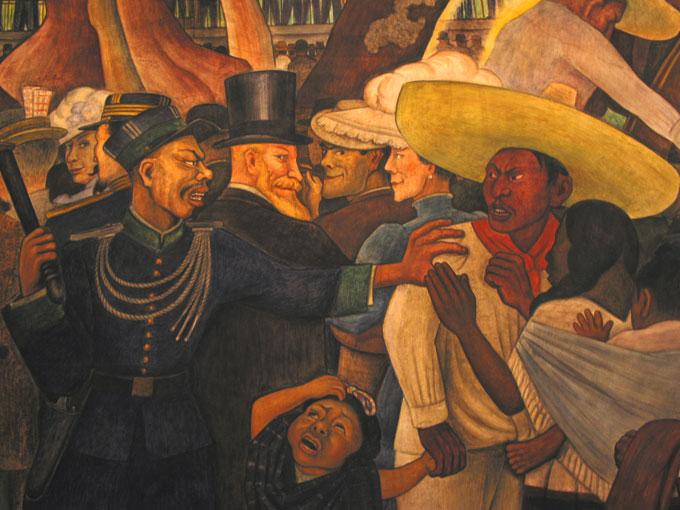 Fresque de Diego Rivera, détail © Pierre Aimar