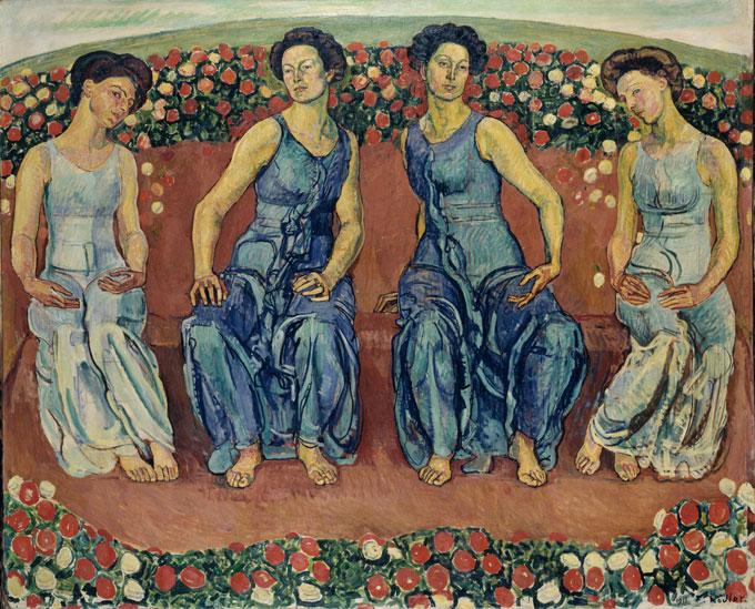 HODLER, Heure sacrée, 1911, huile sur toile, 187 x 230 cm