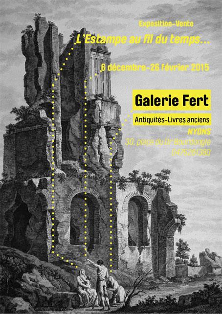 """""""L'estampe au fil du temps"""", Galerie Fert, Nyons, Drôme Provençale, exposition de l'hiver 2014-2015"""