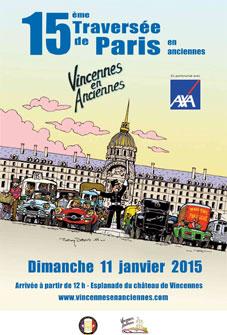 « Vincennes en Anciennes », 15e Traversée de Paris en Anciennes, dimanche 11 janvier 2015