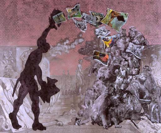 Sans titre, 2006. Huile sur toile, 280 x 330 cm.