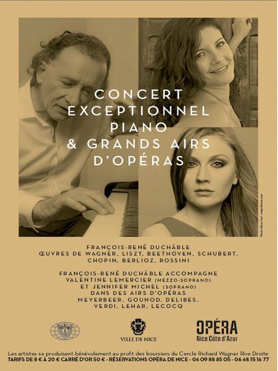 Concert exceptionnel du Cercle Richard Wagner Rive Droite à l'Opéra de Nice le 5 mars 2015