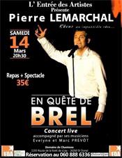 L'Entrée des artistes : « Grégory Lemarchal » à Saint Donat sur l'herbasse le 14 mars 2015