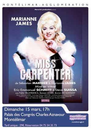 « Miss Carpenter », avec Marianne James, le 15 mars 2015, Palais des Congrés, Montélimar