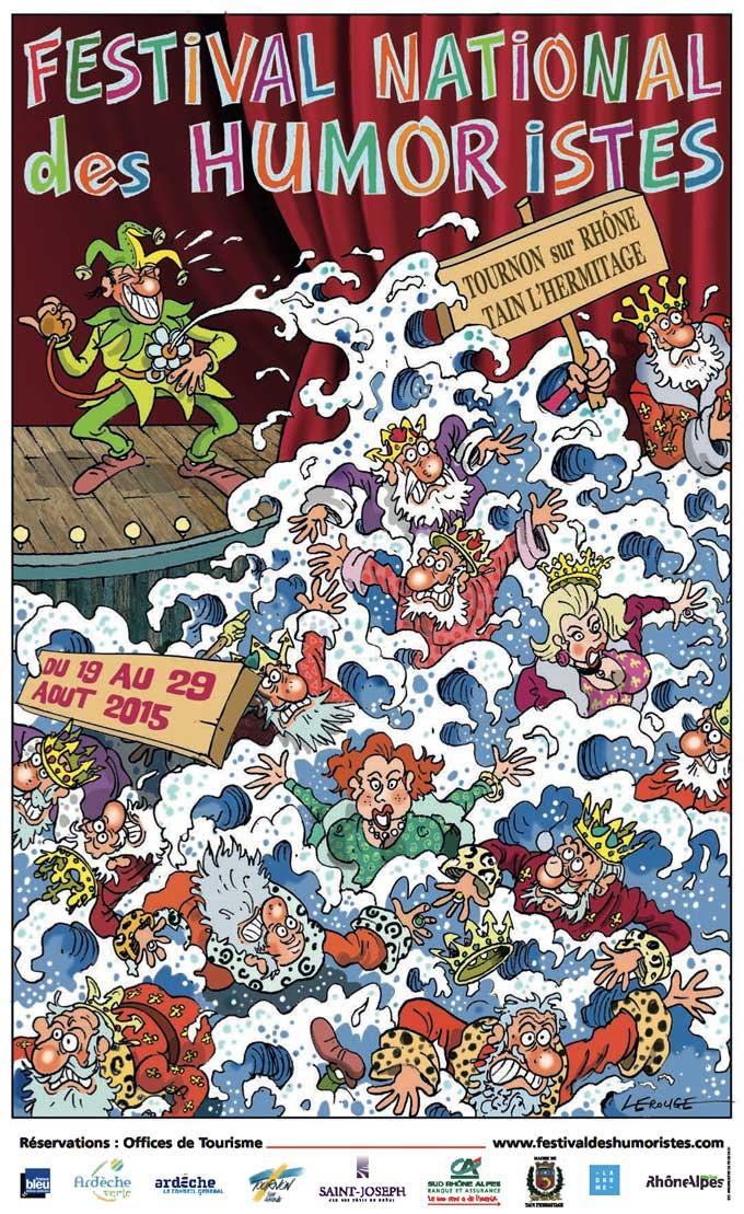 Festival des Humoristes de Tain-Tournon : l'affiche 2015 signée Jacques Lerouge