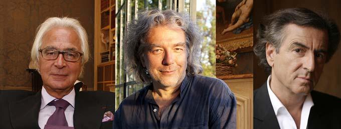 Me Marc Bonnant, Alain Carré et Bernard-Henri Lévy © DR