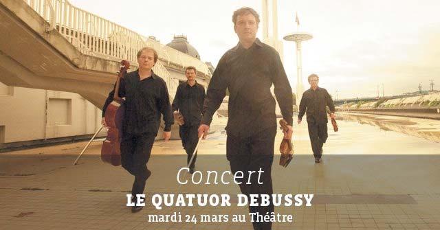 Quatuor Debussy en concert au théâtre de Cavaillon, le 24 mars 2015