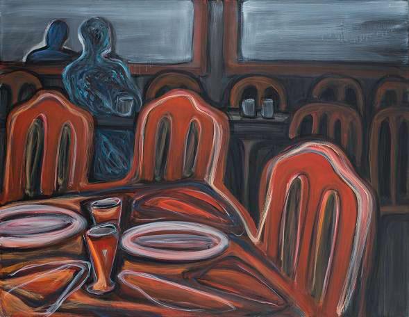 4 Solitude, 2011, huile sur toile, 146 x 114 cm